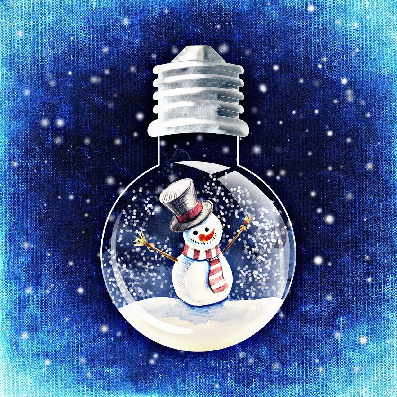 Schneekugelmann