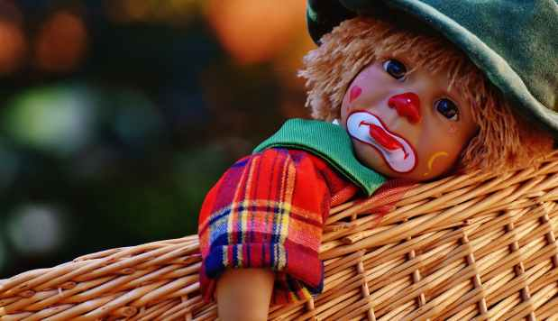Dicke Clownstränen